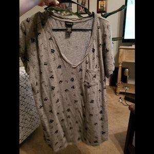 Panda print tshirt with pocket